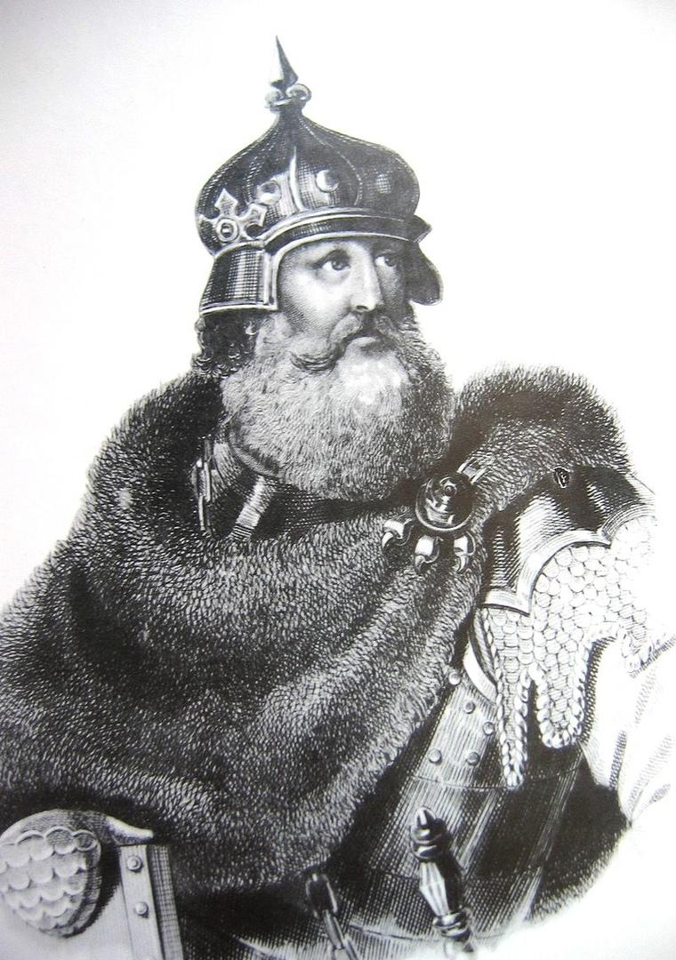 Великий Князь Литовский Кейстут (1297 — 1382 гг.). Кейстут вел непримиримую борьбу против балтийских крестоносцев и остался в народной памяти литовцев как идеал рыцарства и народный герой, преданный родной земле и вере предков.