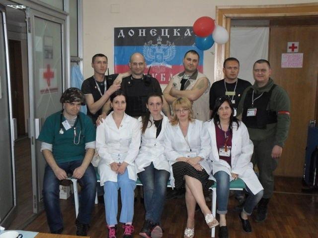 Первый добровольческий медицинский отряд ДНР, апрель 2014, Донецк, ОГА