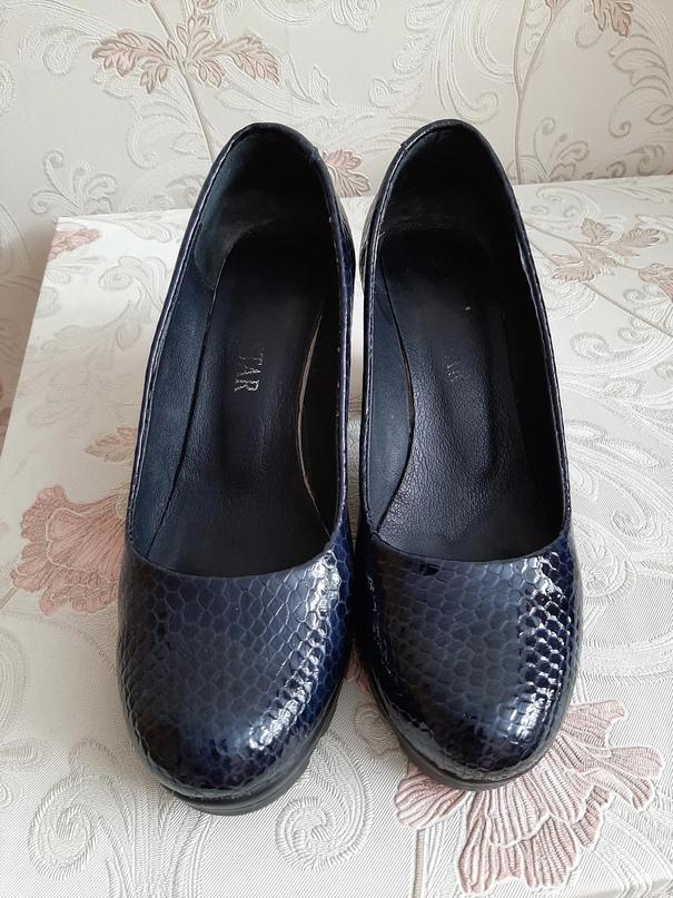 Туфли темно синего цвета, лакированные, | Объявления Орска и Новотроицка №17922