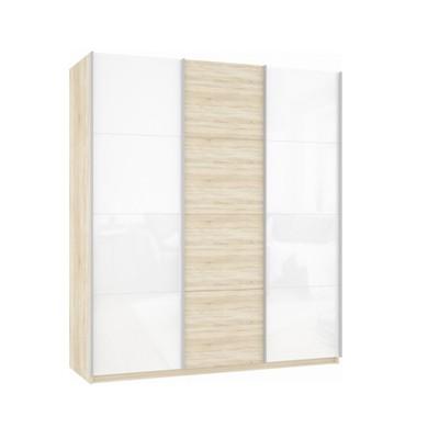 Шкаф Прайм 3-х дверный (Белое стекло/ДСП) ш 2100