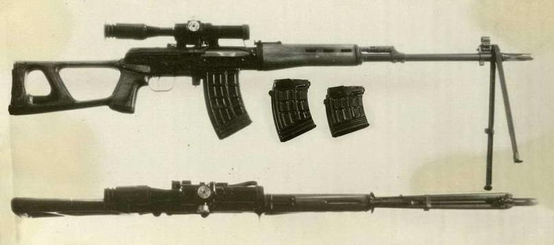 Автоматическая снайперская винтовка с магазинами на 20, 15 и 10 патронов, 1968 годgunsforum.com