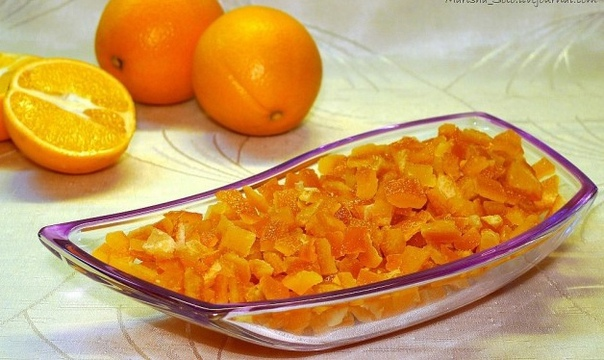 Домашние апельсиновые цукаты для куличей)