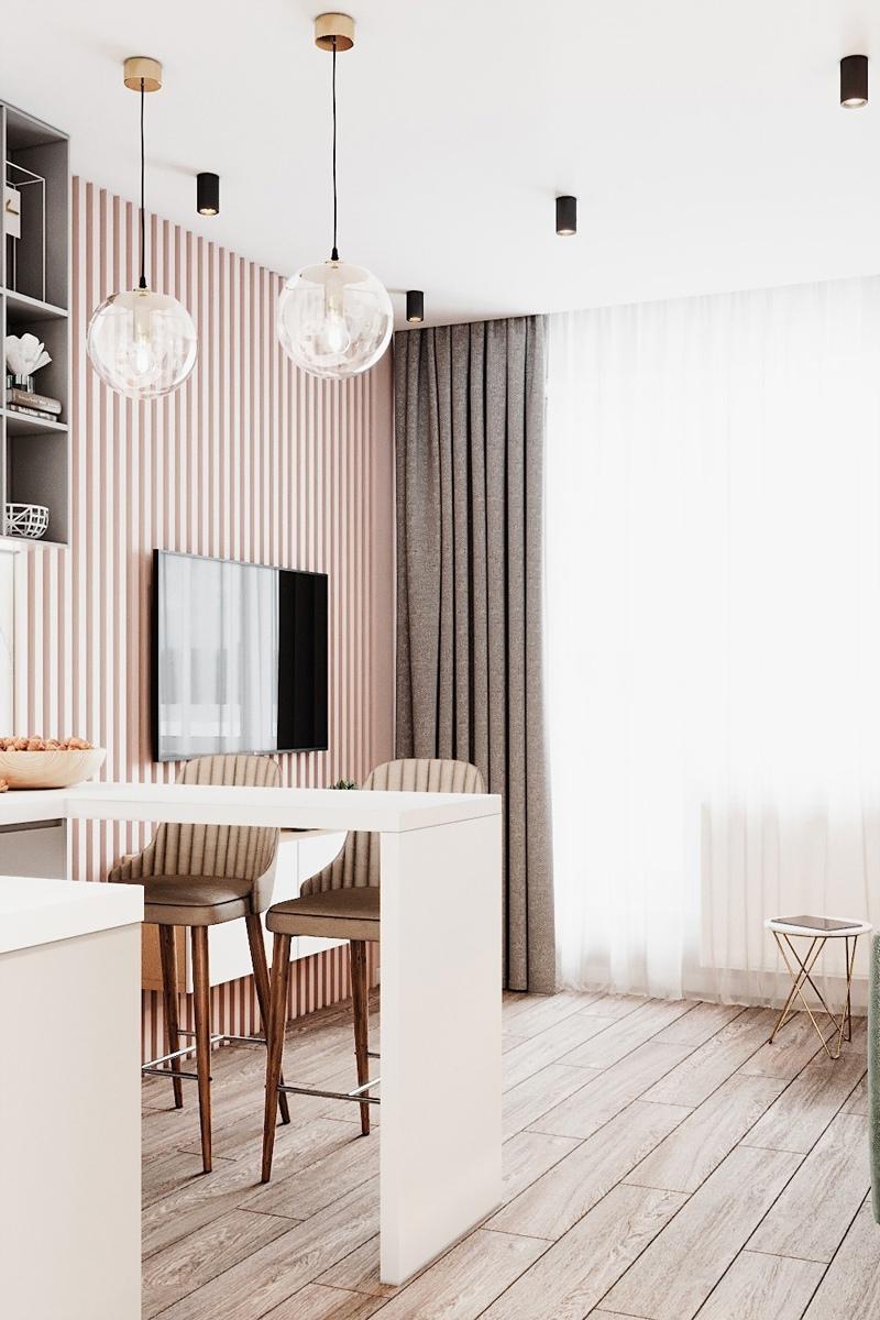 Проект маленькой квартиры-студии типовой планировки 22 кв.