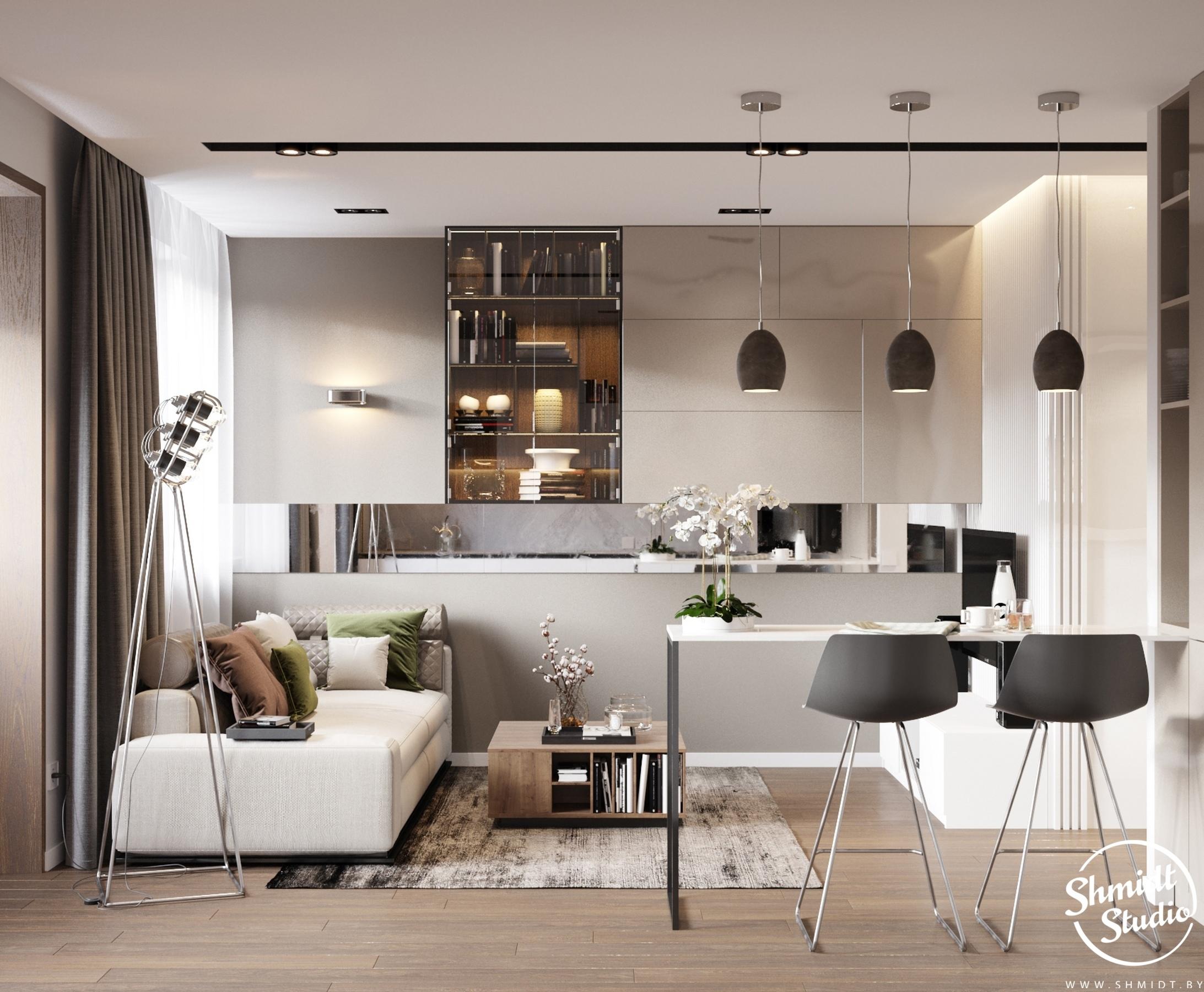Концепт квартиры-студии 31 кв.