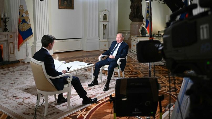 Путин указал на некорректное поведение корреспондента NBC во время интервью