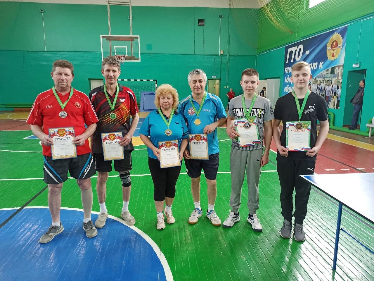 Ежегодный парный турнир по настольному теннису в Артемовском
