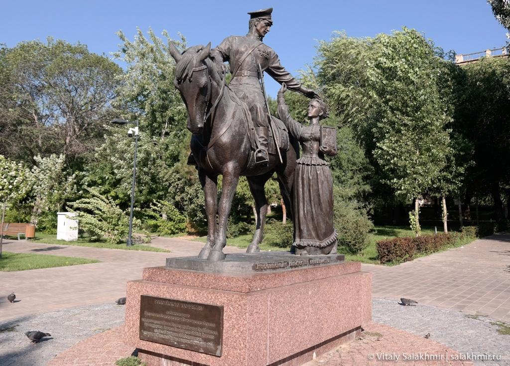 Памятник российскому казачеству, Волгоград 2020