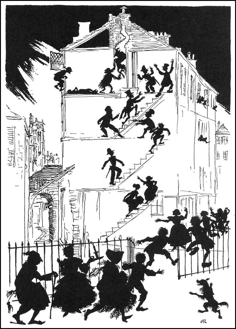 Иллюстрация к рассказу. Артур Рэкем (1935)