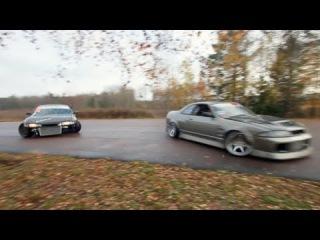 Swedish Street drifting - Skyline R33 RB25DET  + S14 ROCKETBUNNY