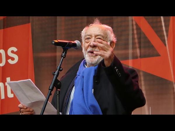 Dieter Hallervorden spricht bei der Alarmstufe Rot Demo am 28 10 20 in Berlin