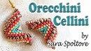 Tutorial orecchini spirale Cellini alternata zig zag Come fare orecchini Peyote con perline