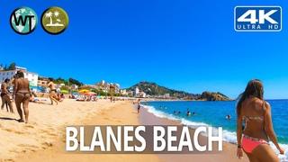 Blanes (s'Abanell) Beach, Costa Brava, Catalonia (Binaural Audio 🎧) - 🇪🇸 Spain - 4K Virtual Tour