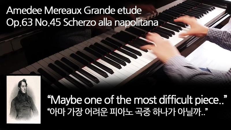 Amedee Mereaux Grande Etude Op 63 No 45 Scherzo alla napolitana