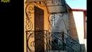 Крыльцо с навесом из поликарбоната над дверью кованые перила изготовление в Днепре металл
