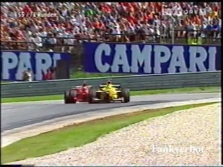 F1 Austrian GP 1998 Michael Schumacher vs Ralf Schumacher