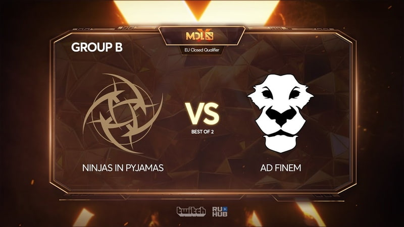 Ninjas in Pyjamas vs Ad Finem, MDL Chengdu Major Qualifier, bo2, game 1 [4ce]
