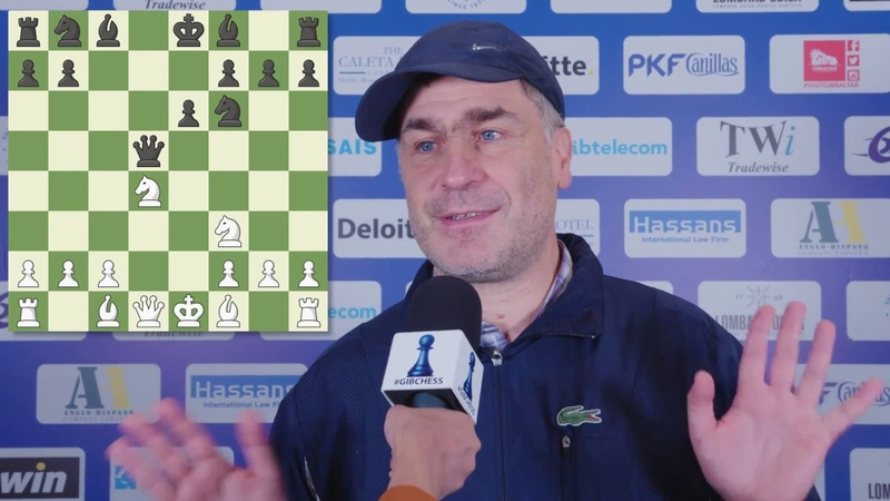 Round 9 Gibraltar Chess post game interview with Vassily Ivanchuk