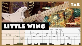 Little Wing Jimi Hendrix Cover   Guitar Tab   Lesson   Tutorial