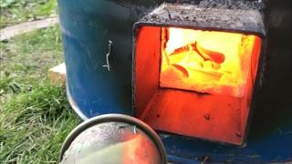 🍯 Обжиг керамики в 200 литровой бочке Гончарная школа Волшебство керамики