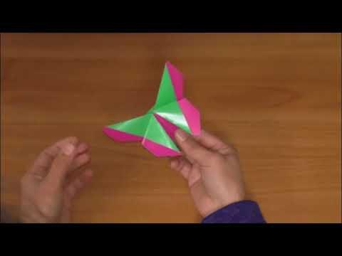Мастер класс Оригами Бабочка закладка