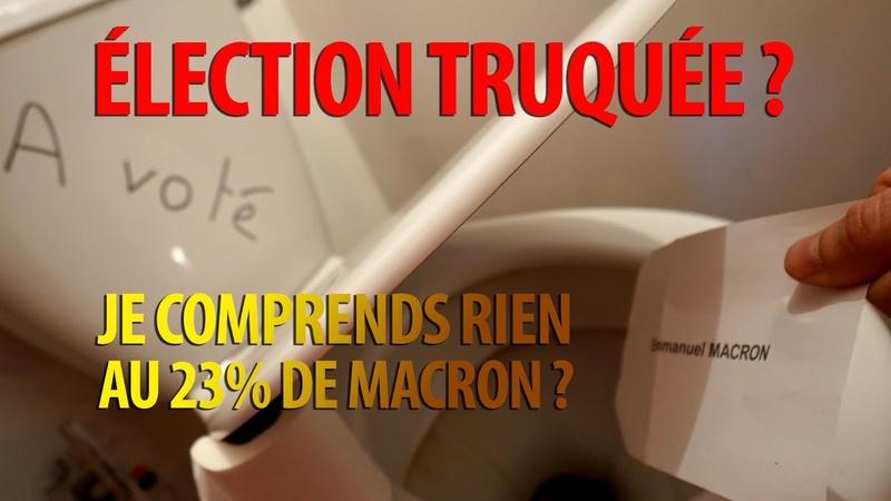 Élection présidentielle Truquée … 23% pour Macron