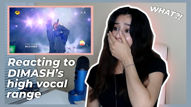 American girl reacts to Dimash Kudaibergen high vocal range The show must go on