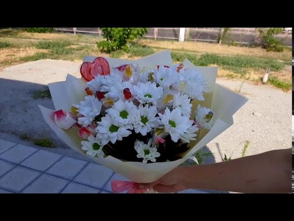 Сладкий букет с цветами для девочки Машенька Доставка сладких букетов Волгоград ДОБРО34 РУ