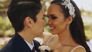 Whimsical, Romantic Lesbian Wedding // Stepheyne & Alexa Wedding