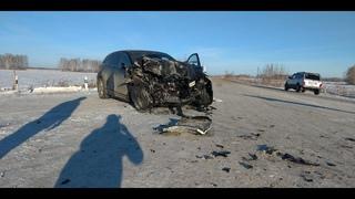 . Смертельное ДТП Долгодеревенское - Аргаяш. Лобовое столкновении Mazda CX-9   и Грузовика.