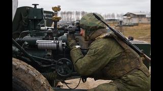 Тренировка расчета противотанковой пушки МТ-12