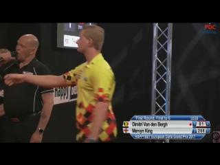 Dimitri Van den Bergh vs Mervyn King (European Darts Grand Prix 2017 / Round 1)
