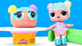 Hacemos una muñeca LOL de plastilina Play Doh. LOL Surprise. Video para niñas
