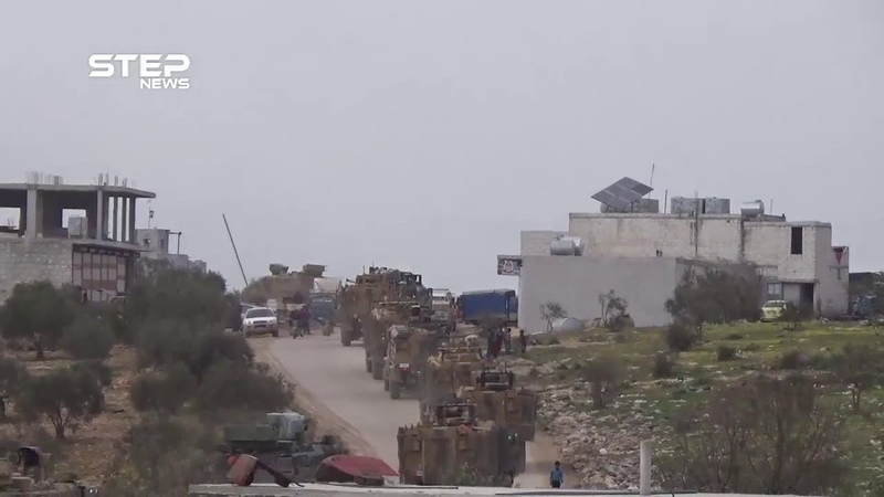 STEP lens observes the exit of a huge Turkish military convoy from the Kafrlossen crossing towards Turkey