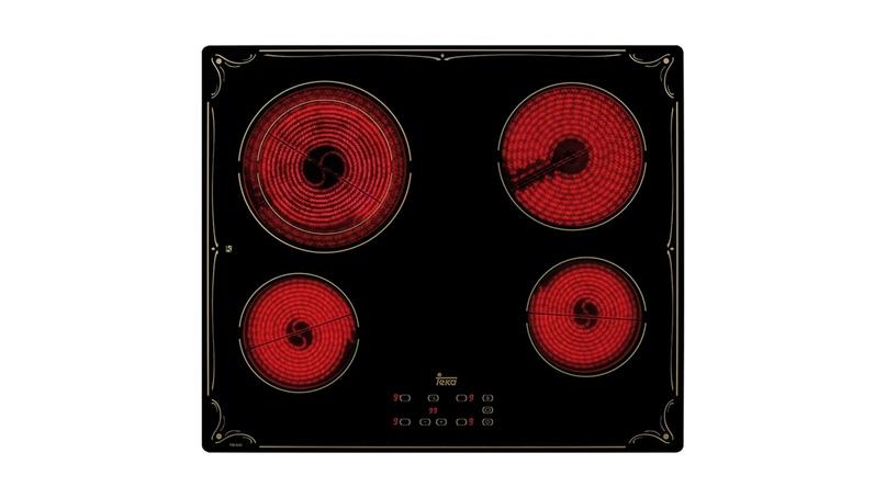 Стеклокерамическая варочная панель 60 см . Шелкография матовым золотом TBR 6420