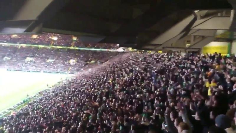 Celtic fans sing the song Just Can't Get Enough Depeche Mode Фанаты шотландского Селтика поют NycslQ