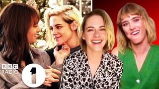 """We called *you*!"" Happiest Season's Kristen Stewart and Mackenzie Davis on their Christmassy romcom"