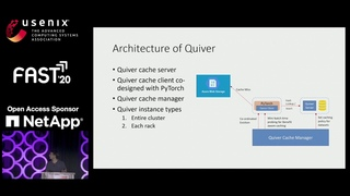 FAST '20 - Quiver: An Informed Storage Cache for Deep Learning