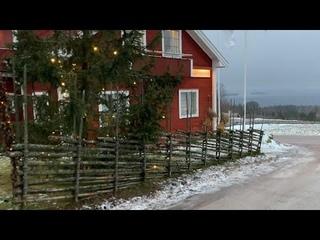 """Sweden Walks: Tällberg. """"Typically Swedish"""" village on a grey winter day (4k, natural sound)"""