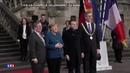 Merkel und Macron in Aachen: Man kann nicht überhören was das Volk davon hält!