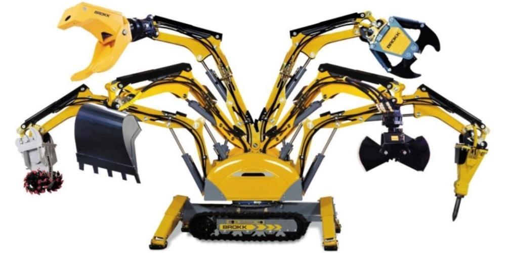 Демонтажные роботы с навесным оборудованием