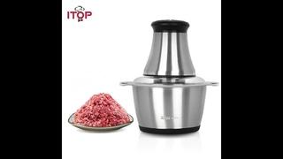 Itop новая электрическая мясорубка из нержавеющей стали, измельчитель мяса, кухонный измельчитель,